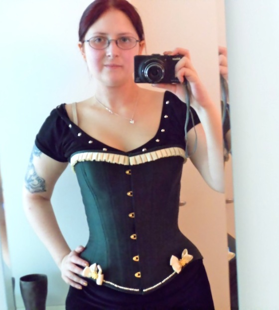 MeInGreenCorset